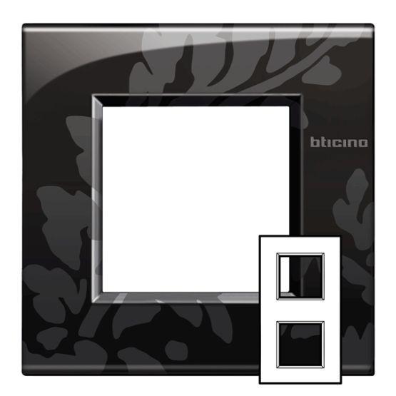 bticino rahmen lne4802m2rm online bestellen im ens elektronetshop. Black Bedroom Furniture Sets. Home Design Ideas