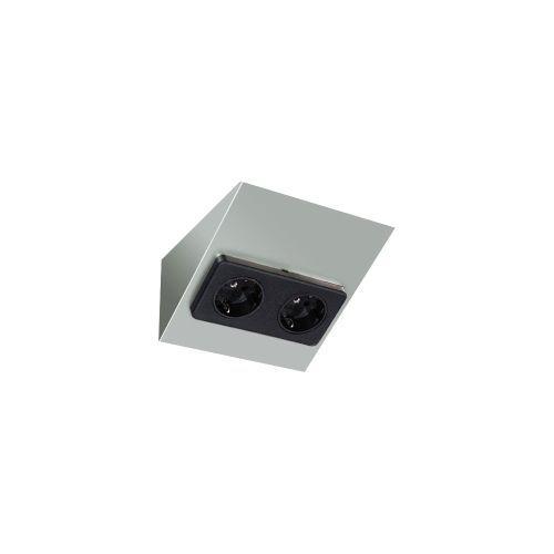 evn m bel anbau doppelsteckdose 092250 online kaufen im ens elektronetshop. Black Bedroom Furniture Sets. Home Design Ideas